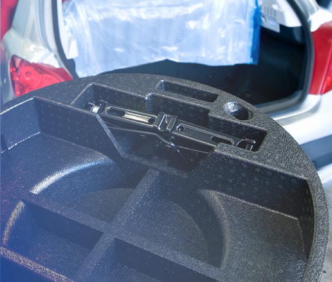 Close-up van een toolbox inclusief inhoud